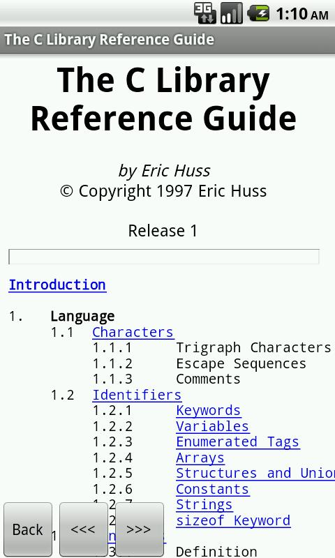 C Programming Reference FREE - screenshot