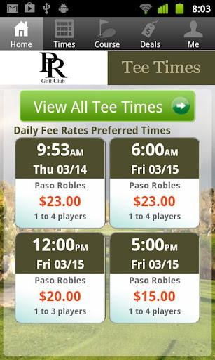 Paso Robles Golf Tee Times