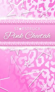 Pink Leopard Go SMS Star Theme- screenshot thumbnail