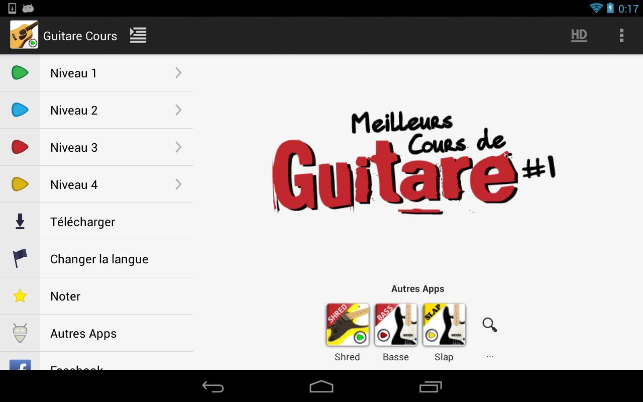 Guitare cours d butants lite applications android sur - Cours de cuisine debutant ...