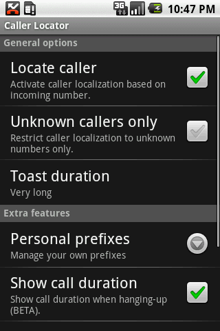 Caller Locator - screenshot