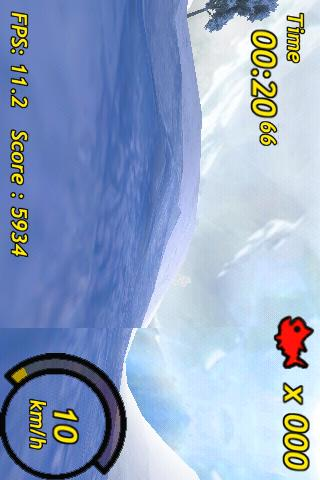 Penguin Skiing 3D - screenshot