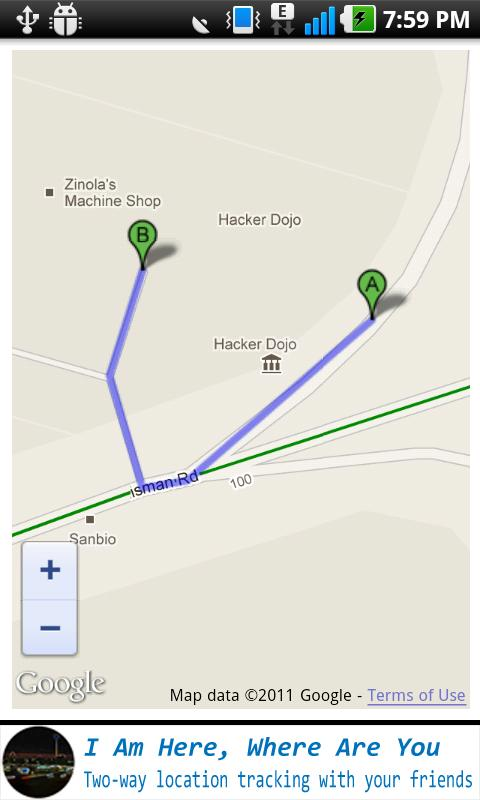 Buddy Locator On Google Maps - screenshot