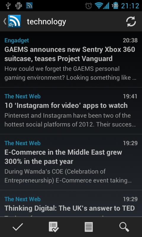 D7 Reader Pro (RSS | News) - screenshot