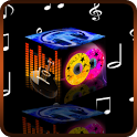 Rotating Music Cube Live Wall icon