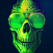 Green Skull Live Wallpaper