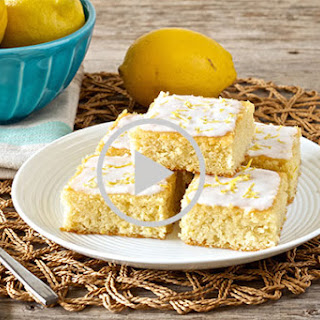 Lemon Brownies With Coconut Lemon Glaze • Paleo, low carb, gluten-free, grain-free, dairy-free, refined sugar-free.