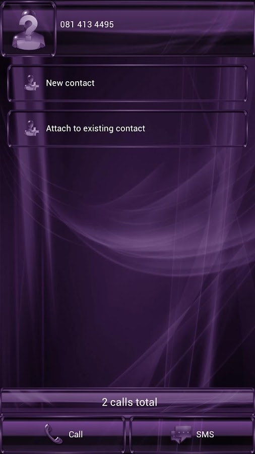 exDialer GlassMetalFramePurple - screenshot