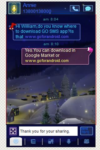 GO SMS Theme Winter