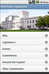 Ohio State Legislature- screenshot thumbnail