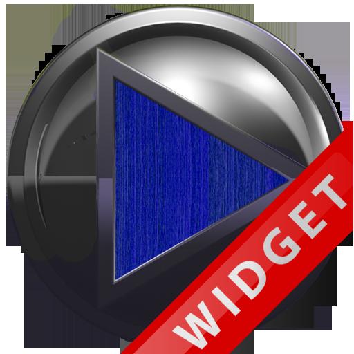 Poweramp Widget Blue Wood Meta