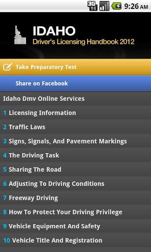 Idaho Driver License Handbook