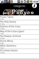 Screenshot of Audio Catholic Prayer