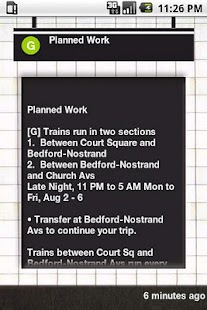 NYC Subway Status - screenshot thumbnail
