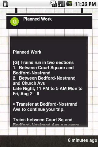 NYC Subway Status - screenshot