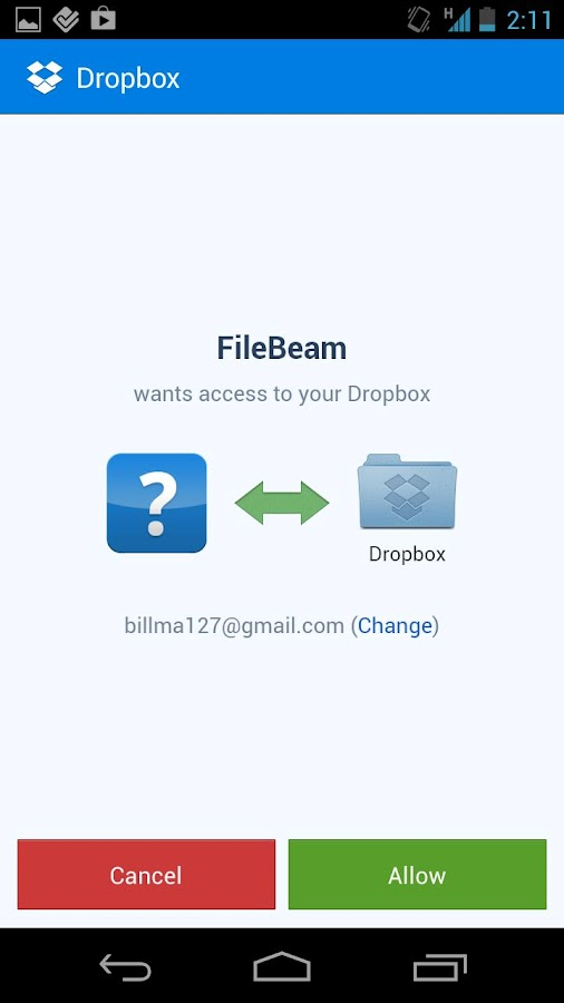 FileBeam - screenshot