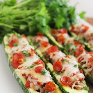 Pizza Zucchini Boats.