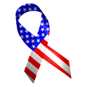 American Flag Ribbon logo
