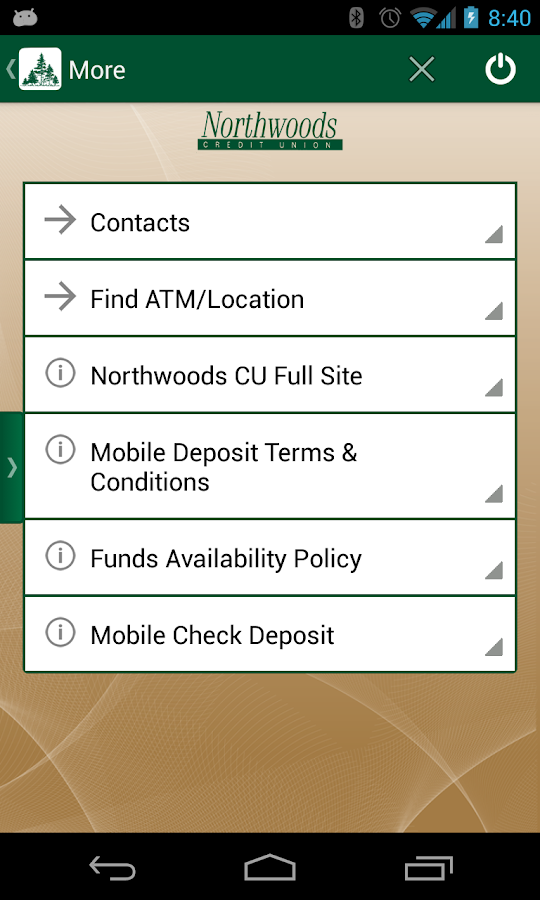 Northwoods Credit Union Mobile - screenshot