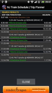 NJ Train Schedule- screenshot thumbnail