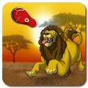 Lion, the king of wild savanna icon