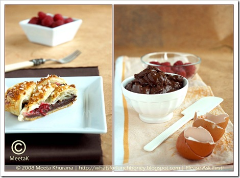 Chocolate Raspberry Danish Braid Diptych (01) by MeetaK