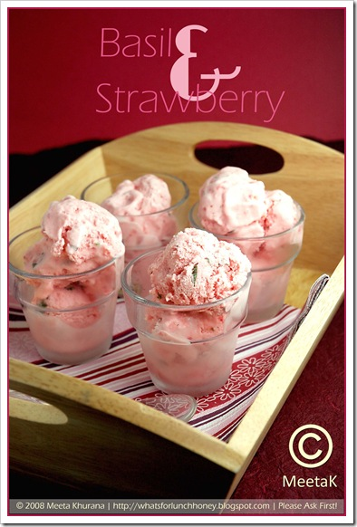 Strawberry Basil Ice Cream (01) by MeetaK
