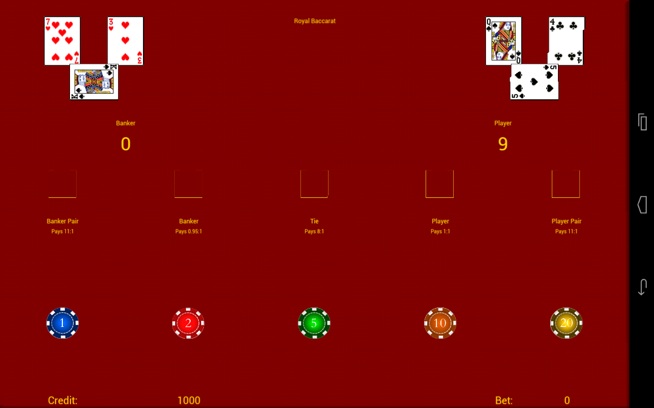 Royal Baccarat- screenshot