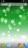 Screenshot of Snowflake Pro Live Wallpaper