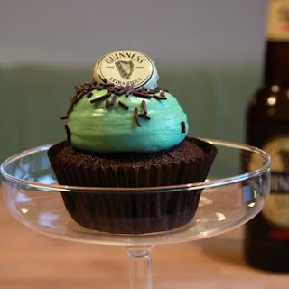 Guinness-Chocolate Cupcakes.