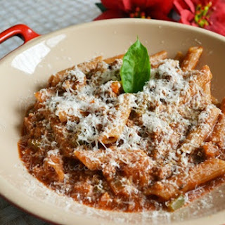 Pasta with Ground Beef.