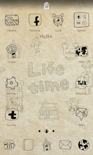 Life time go launcher theme - screenshot thumbnail