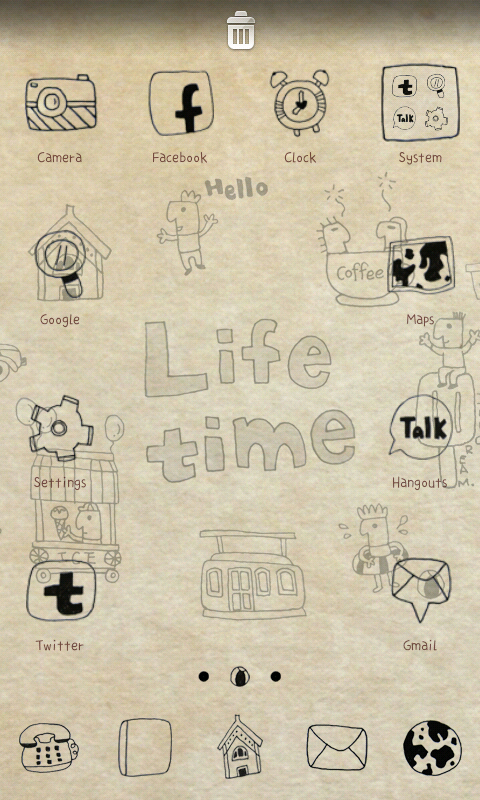 Life time go launcher theme - screenshot