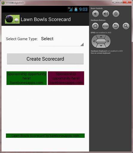 Lawn Bowls Scorecard