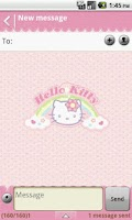 Screenshot of Handcent Skin (Hello Kitty)