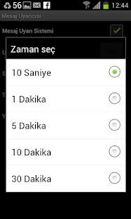 Mesaj Uyarıcısı -SMS uyarıcısı - screenshot thumbnail