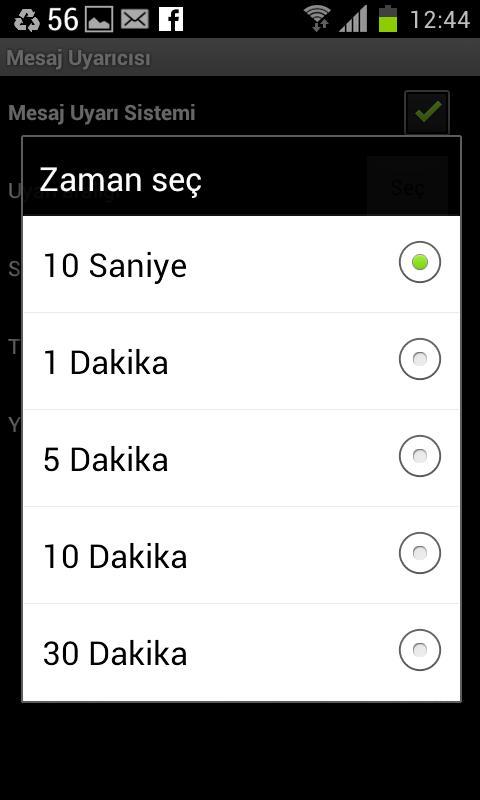 Mesaj Uyarıcısı -SMS uyarıcısı - screenshot