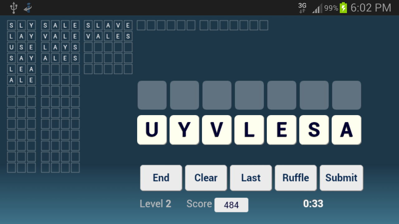 Word Ruffle Free - screenshot