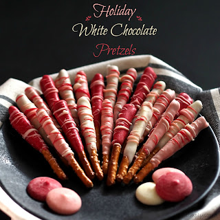 Holiday White Chocolate Pretzels