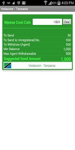 Mpesa Cost Calculator- screenshot thumbnail