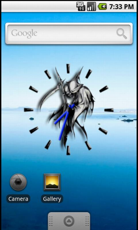 Grim Reaper Clock Widget - screenshot