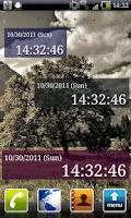 Screenshot of Seconds Clock Widget