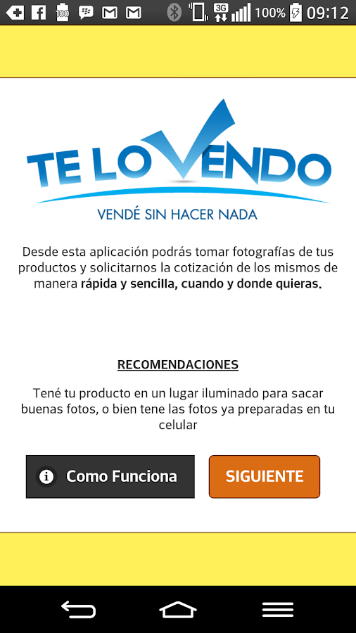 TeLoVendo- screenshot