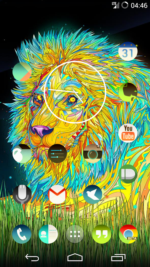 Trippy round icon pack nova go android apps on google play for Trippy house music