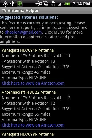 TV Antenna Helper - screenshot