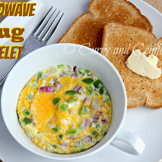 2 Minute Microwave Mug Omelet.
