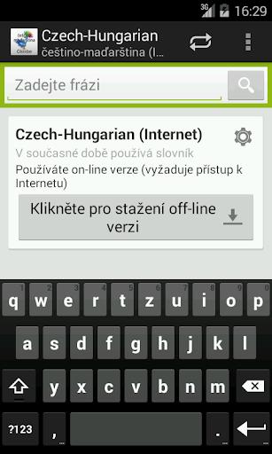 Češtino-Maďarština slovník