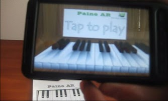 Screenshot of Piano AR (Augmented reality)