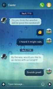 (FREE) GO SMS PRO RAINY THEME v1.1.8