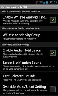 Whistle Android Finder PRO - screenshot thumbnail